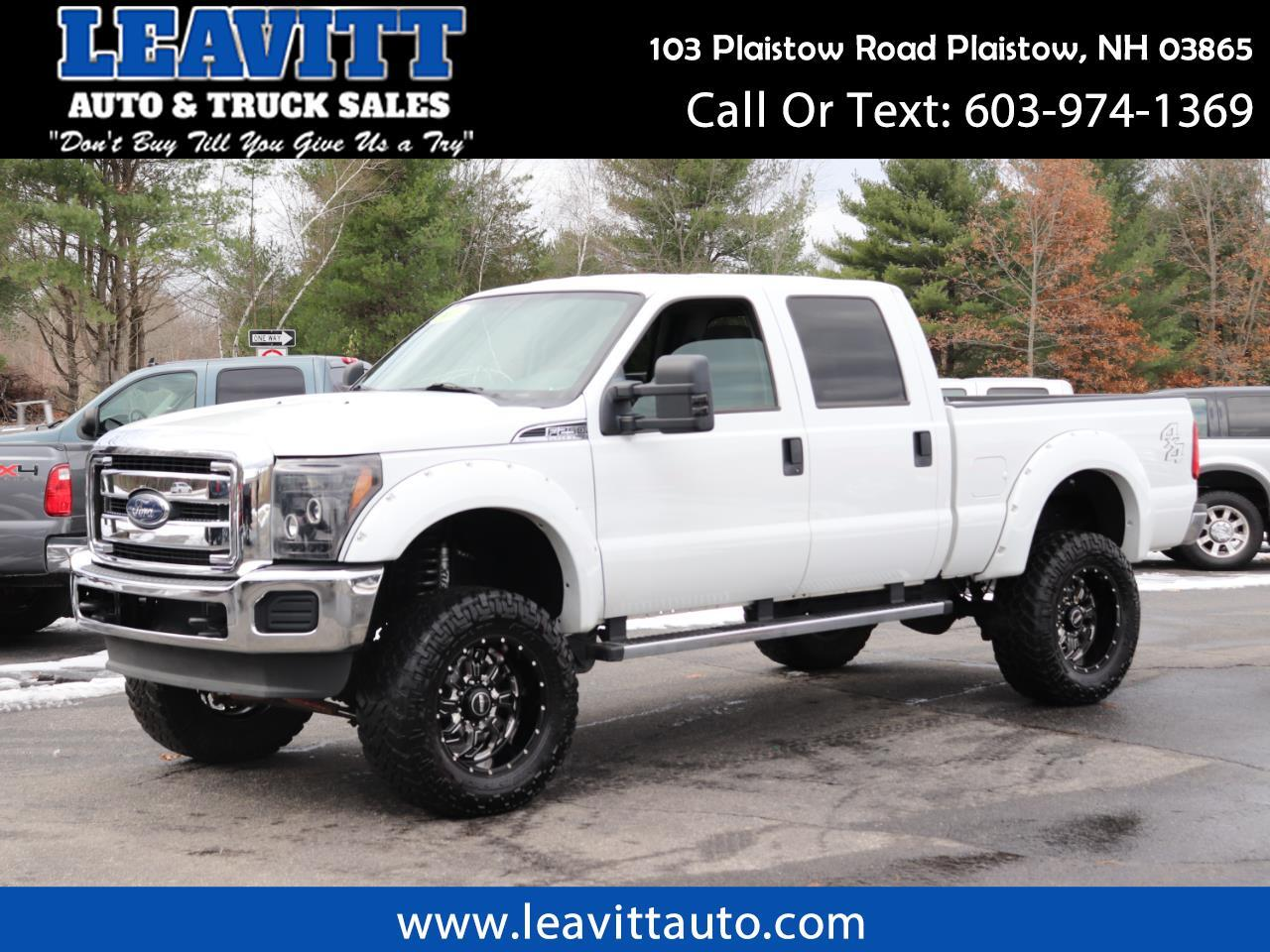 2013 Ford F-250 SD XLT CREW CAB 6.2L LIFTED 66K MILES!!!