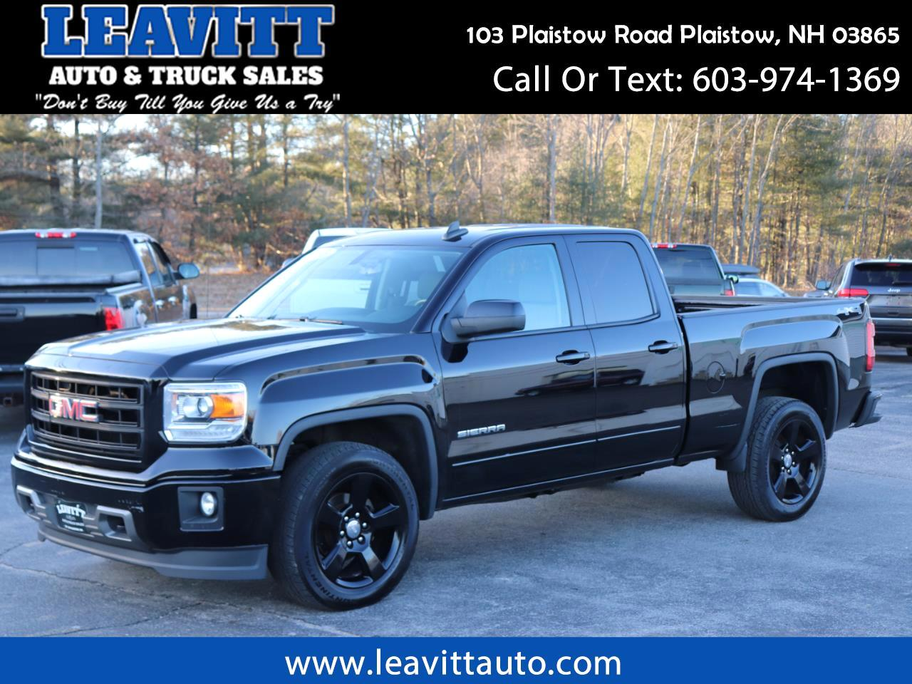 2015 GMC Sierra 1500 ELEVATION DOUBLE CAB
