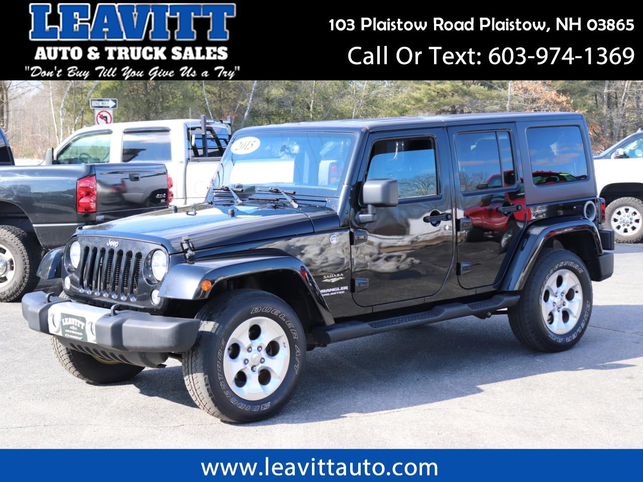 2015 Jeep Wrangler UNLIMITED SAHARA 4X4