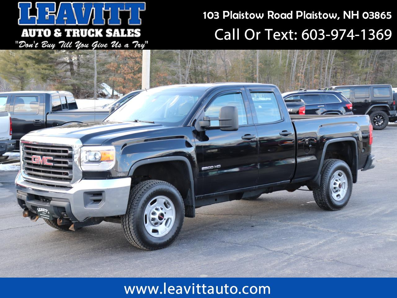 2015 GMC Sierra 2500HD DOUBLE CAB 4X4 6.0L GAS