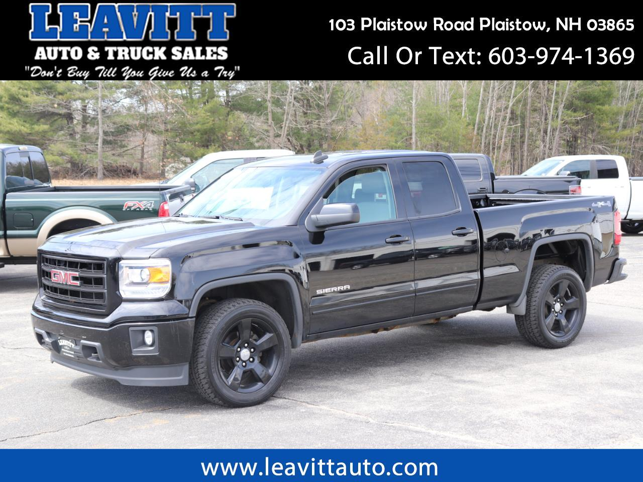 2015 GMC Sierra 1500 ELEVATION 54K MILES