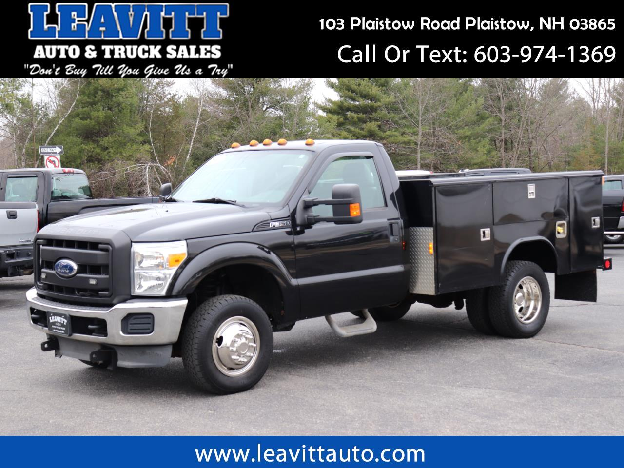 2011 Ford F-350 SD UTILITY DUALLY 4X4 6.2L GAS