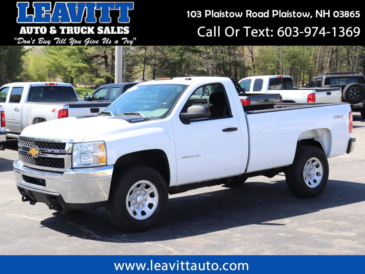 2012 Chevrolet Silverado 2500HD REGULAR CAB 4X4 65K MILES!