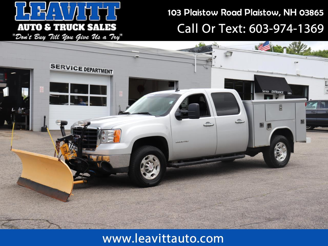 2010 GMC Sierra 2500HD UTILITY CREW CAB 4X4 LEATHER W/PLOW!