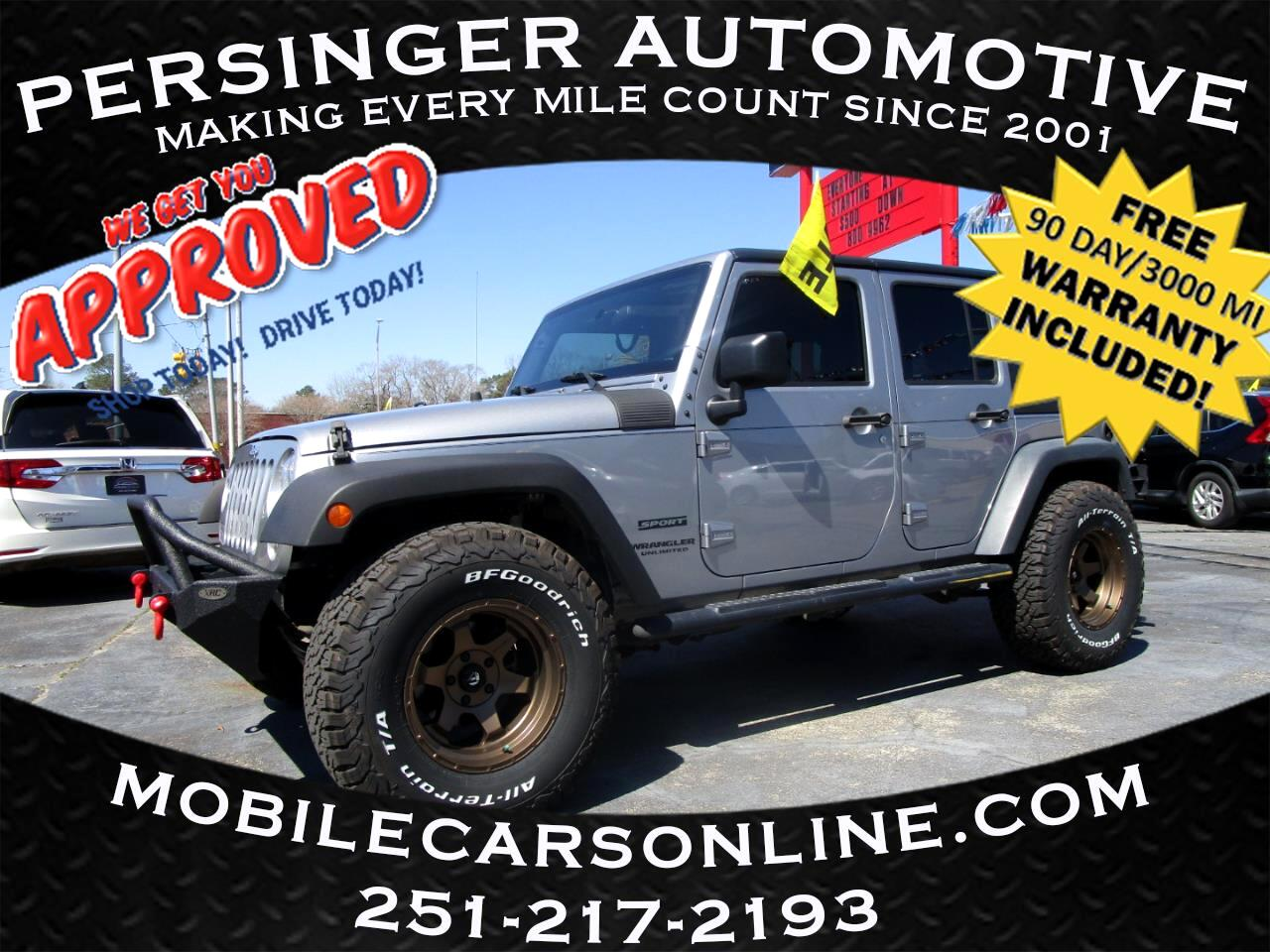 Jeep Wrangler Unlimited 4WD 4dr Sport 2015