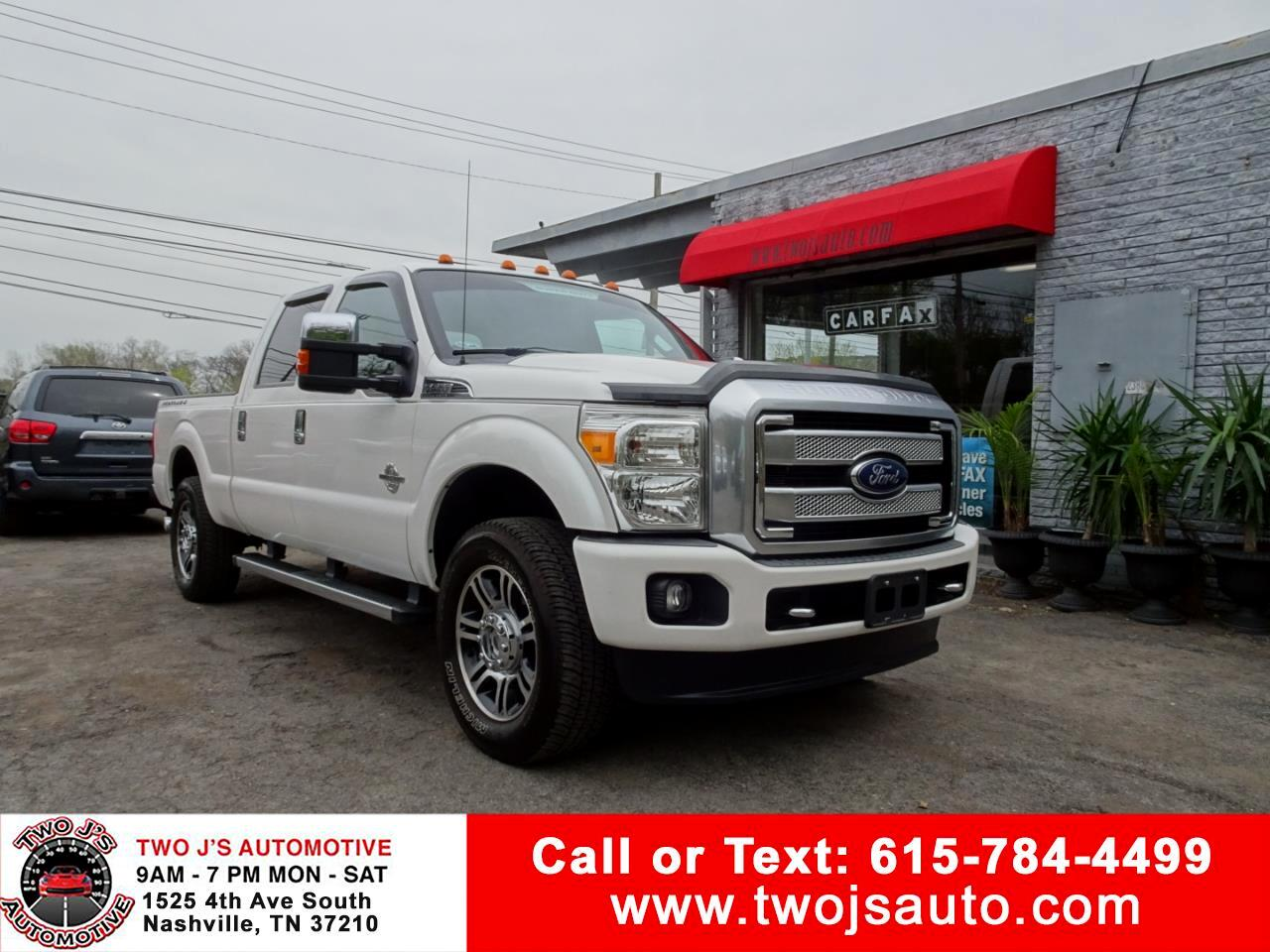 2013 Ford F-250 SD Platinum Supercrew 4WD