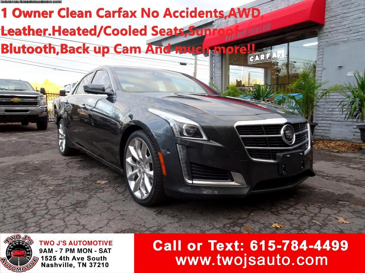 2014 Cadillac CTS Sedan 4dr Sdn 2.0L Turbo Premium AWD