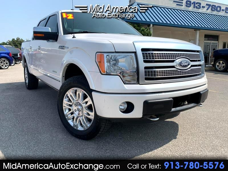 used 2012 ford f 150 platinum supercrew 5 5 ft bed 4wd for sale in olathe ks 66062 mid america auto exchange used 2012 ford f 150 platinum supercrew