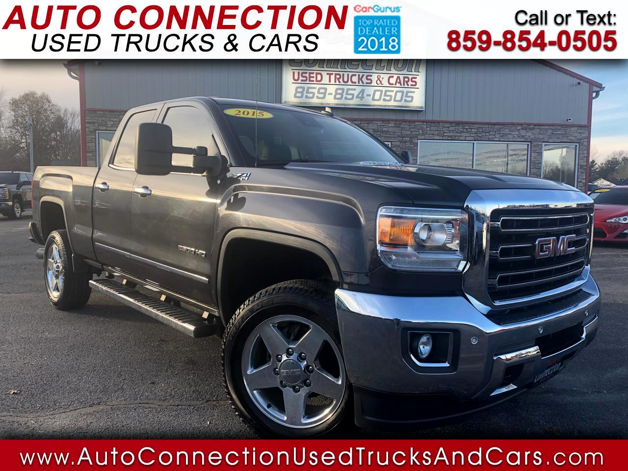 "2015 GMC Sierra 2500HD 4WD Double Cab 144.2"" SLT"