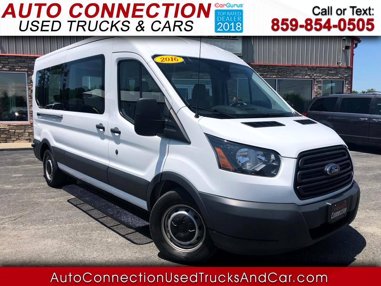 "2016 Ford Transit Wagon T-350 148"" Med Roof XLT Sliding RH Dr"