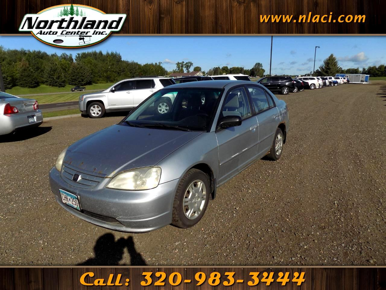 2002 Honda Civic 4dr Sdn LX Manual