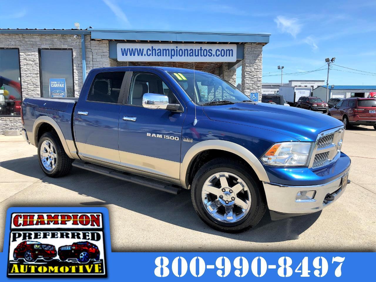 """2011 RAM 1500 4WD Crew Cab 140.5"""" Laramie"""