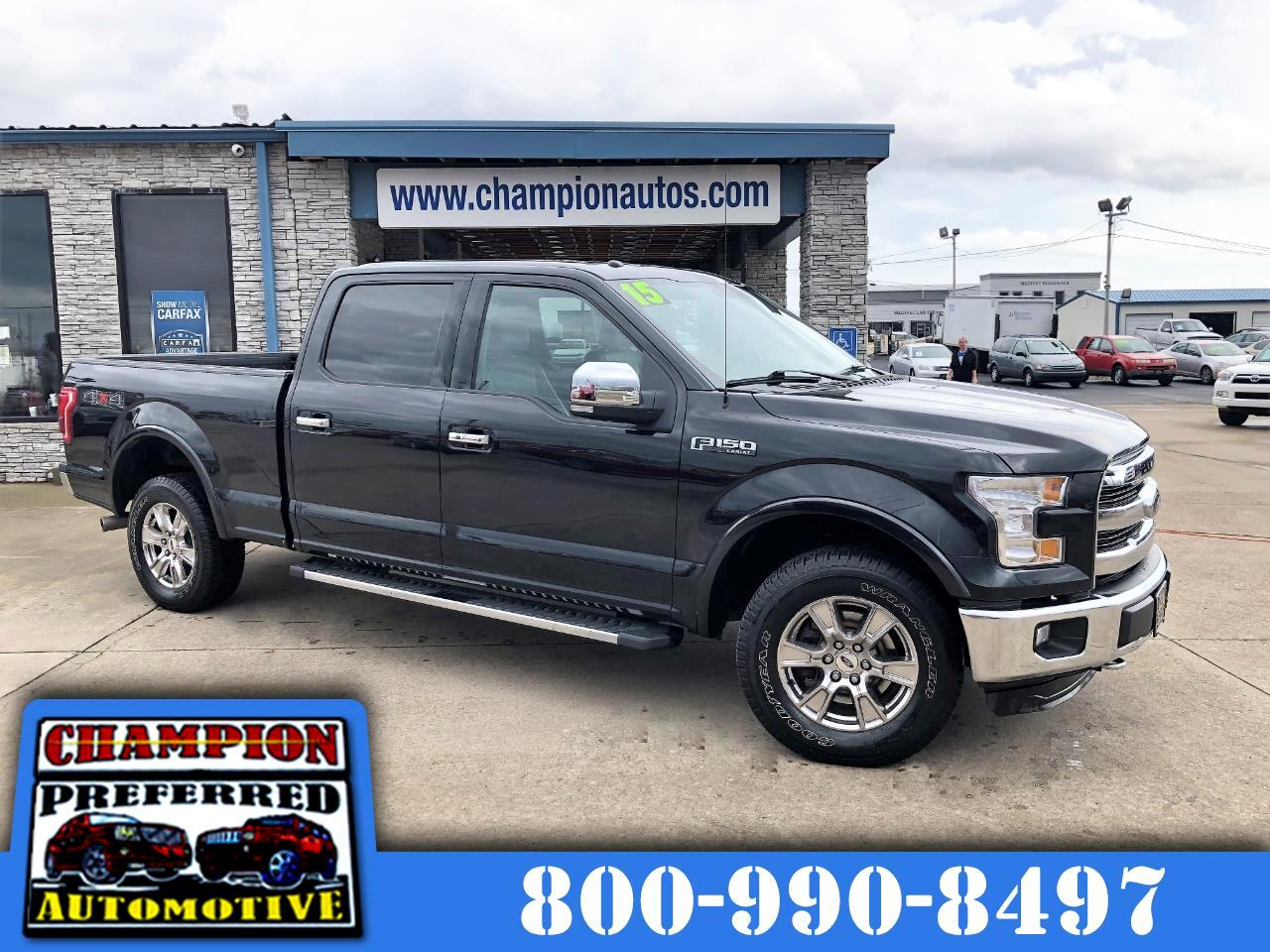 "2015 Ford F-150 4WD SuperCrew 157"" Lariat w/HD Payload Pkg"