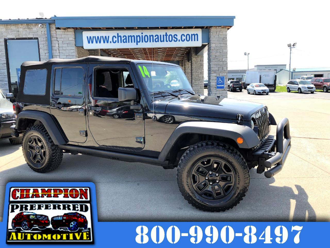 2014 Jeep Wrangler Unlimited 4WD 4dr Willys Wheeler