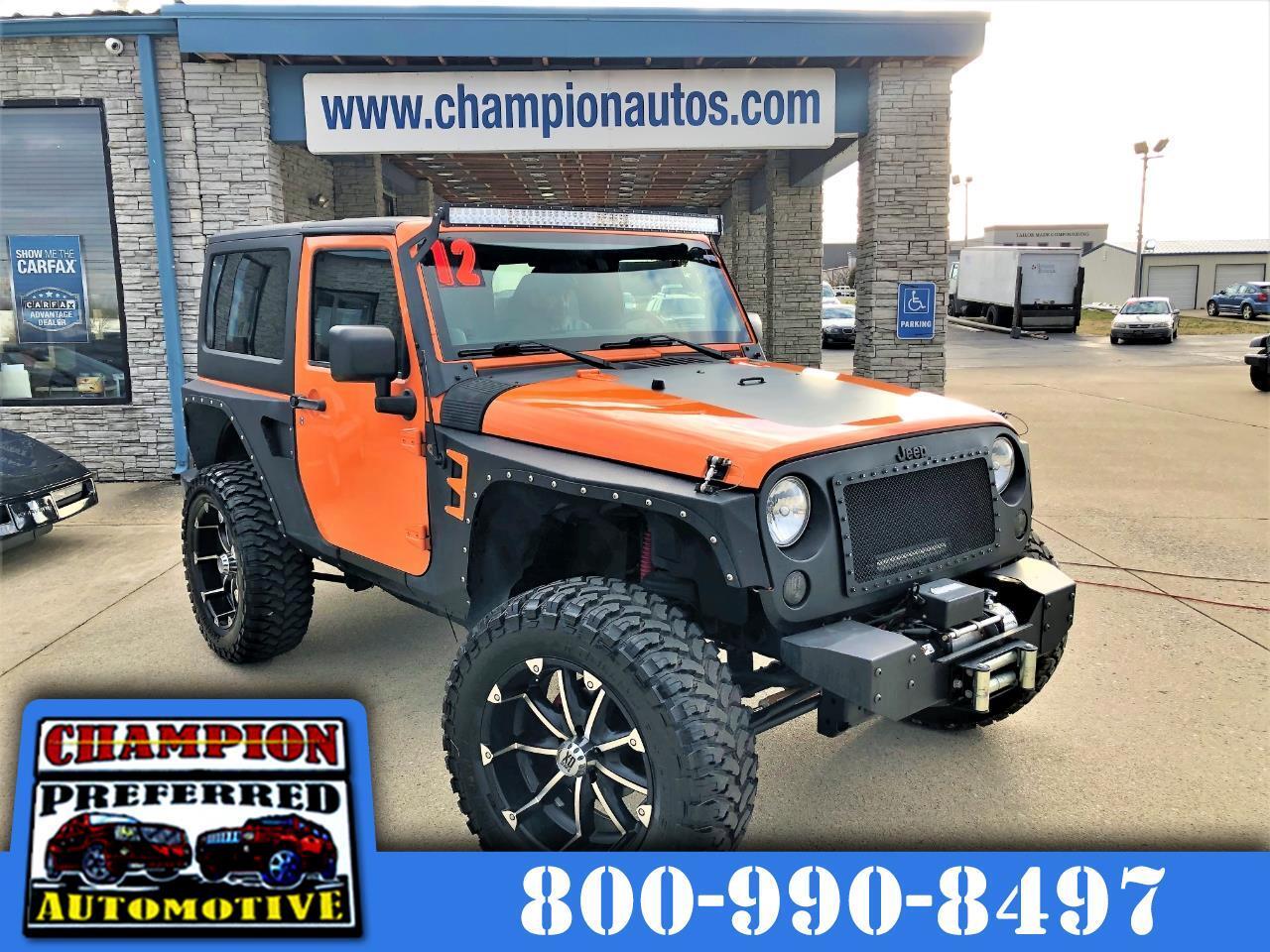 Jeep Wrangler 4WD 2dr Sport 2012