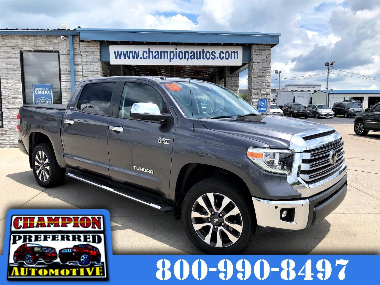 Toyota Tundra 4WD Limited CrewMax 5.5' Bed 5.7L FFV (Natl) 2018