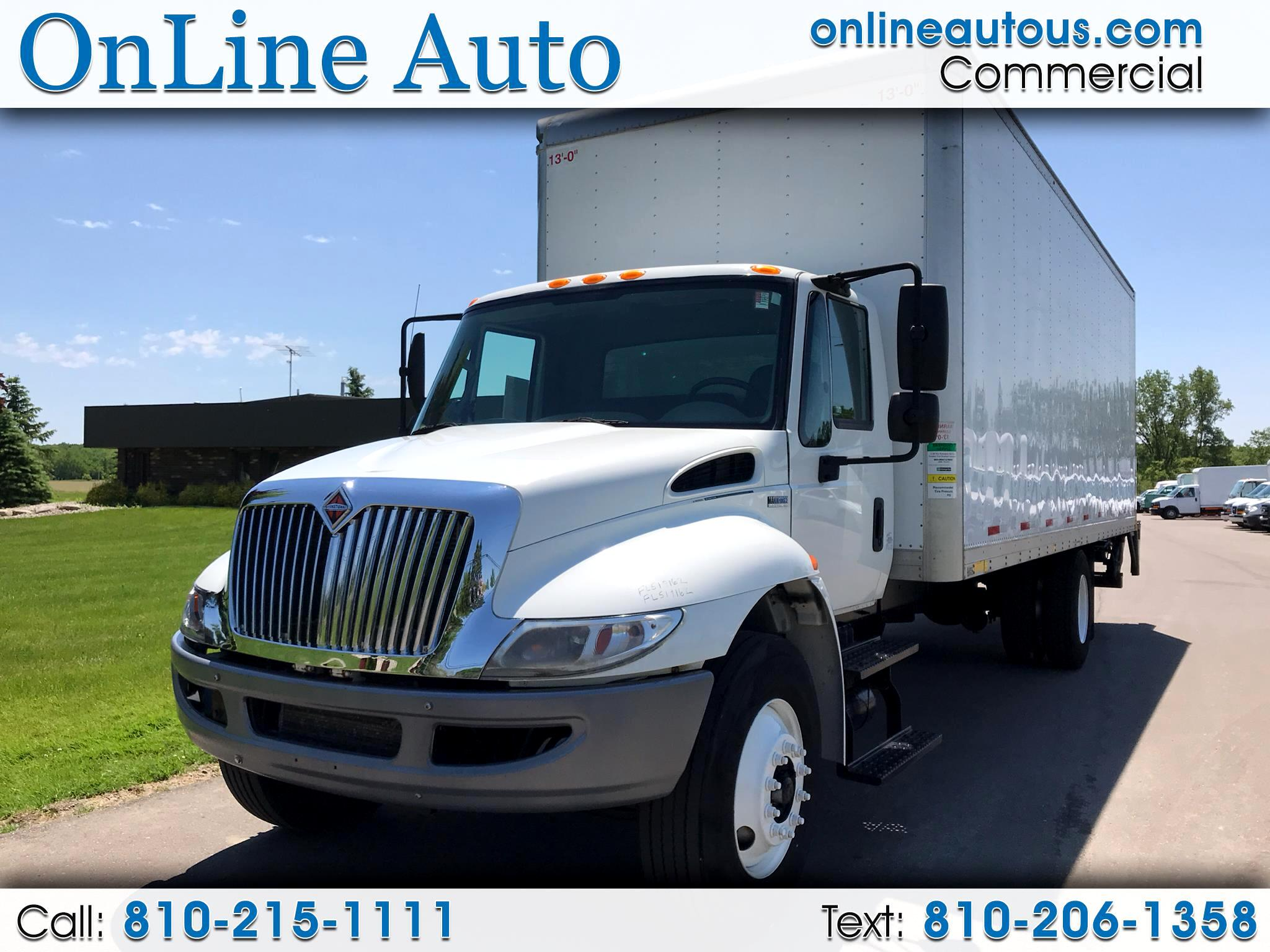 2015 International 4000 26' BOX TRUCK W/FOLD UNDER STEEL LIFT