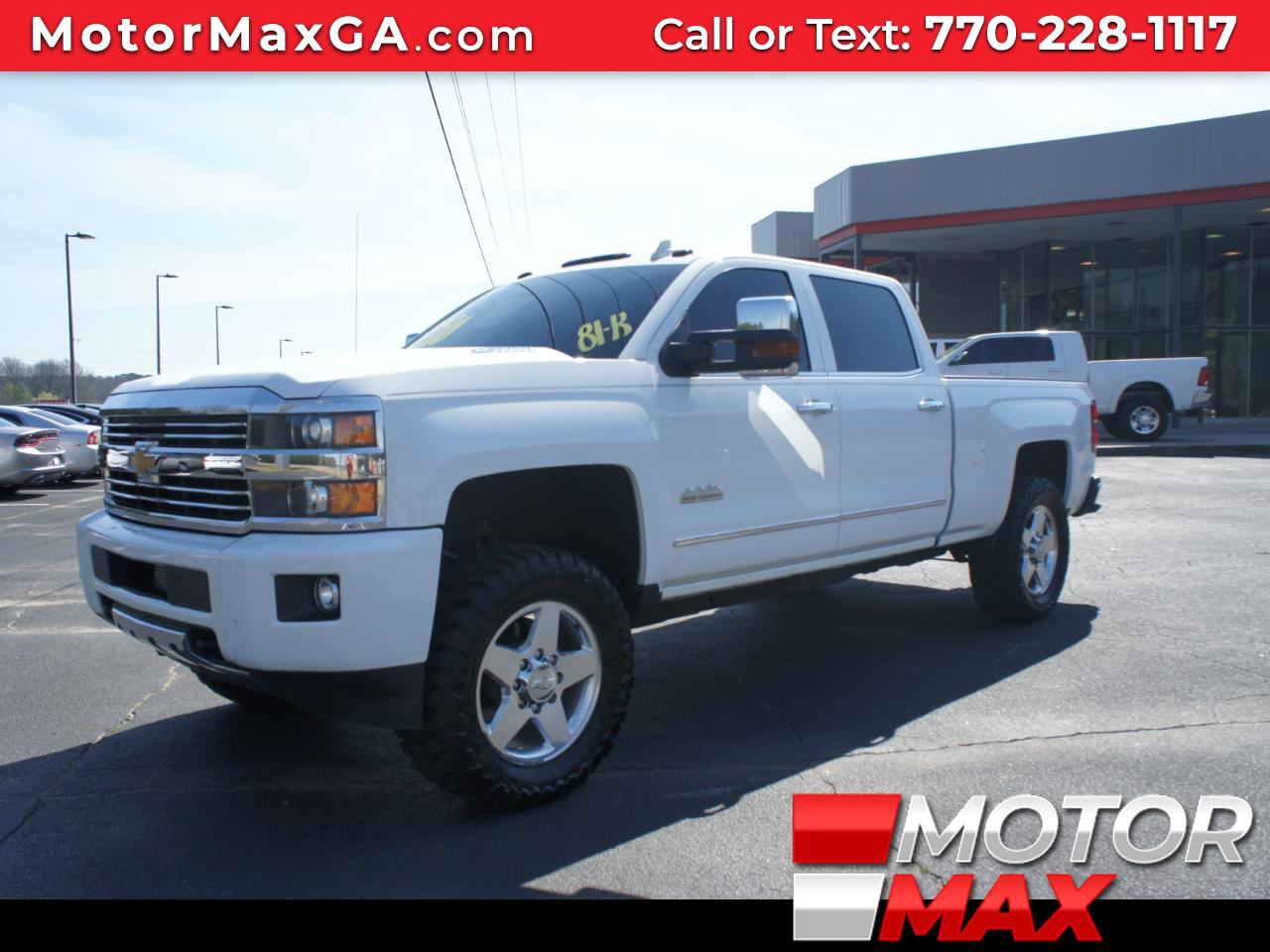 "2015 Chevrolet Silverado 2500 4WD CREW CAB 153.7"" HIGH COUNTRY"