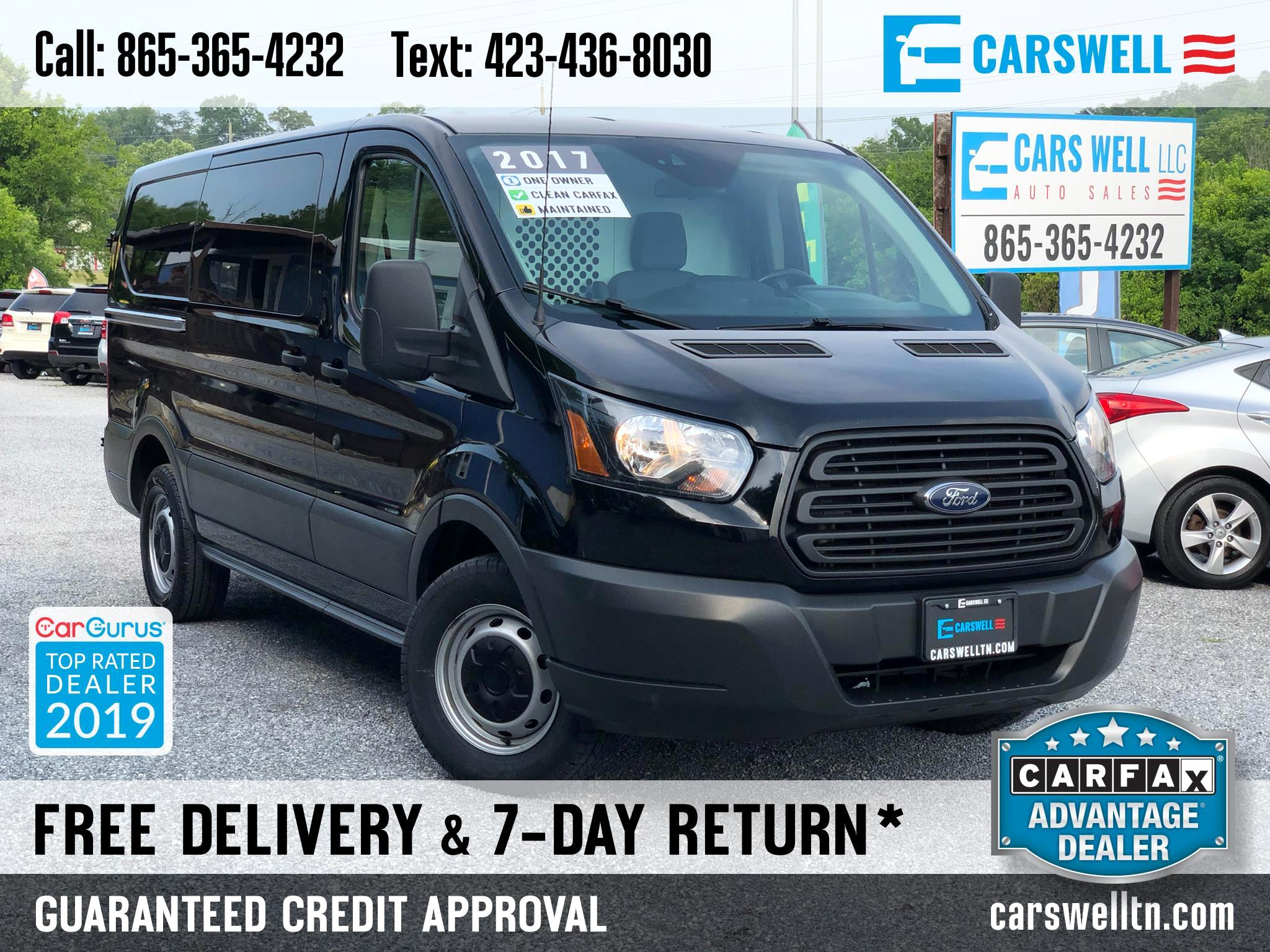"2017 Ford Transit Cargo Van T-150 130"" Low Rf 8600 GVWR Sliding RH Dr"