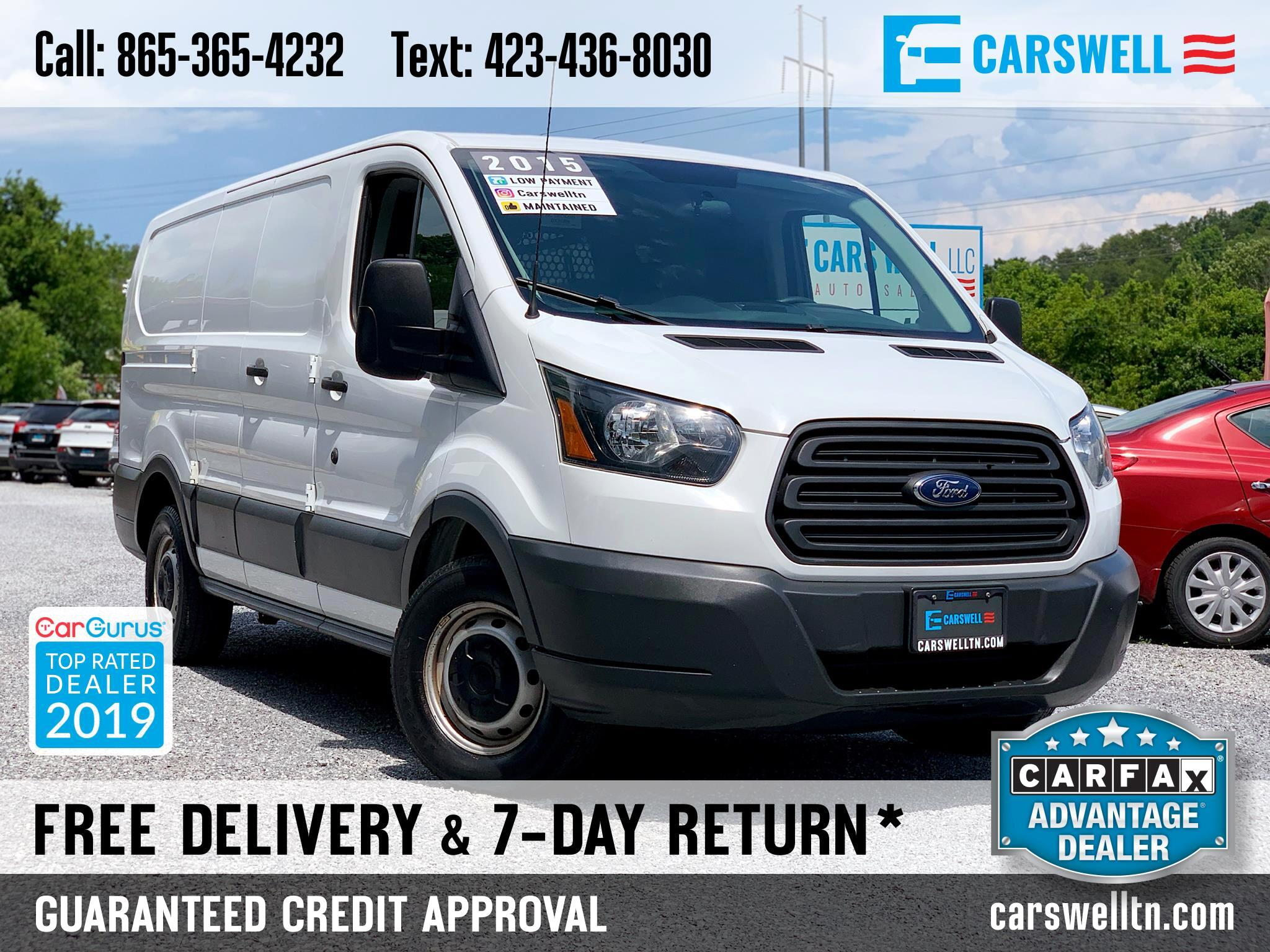 "2015 Ford Transit Cargo Van T-150 130"" Low Rf 8600 GVWR Swing-Out RH Dr"