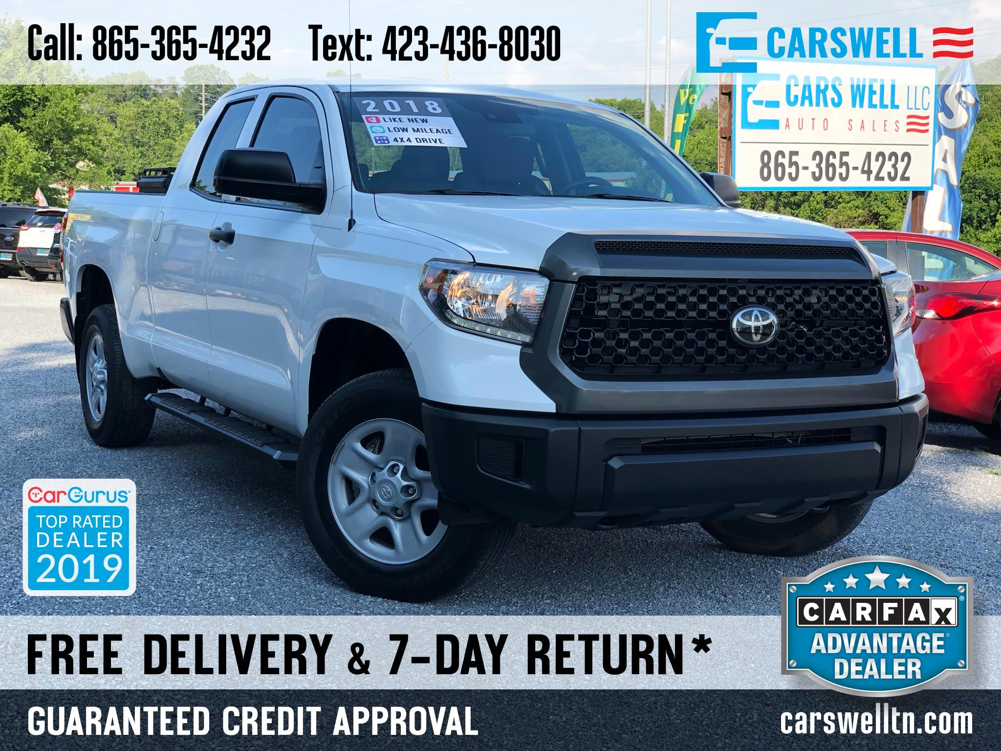 2018 Toyota Tundra 4WD SR Double Cab 6.5' Bed 4.6L (Natl)