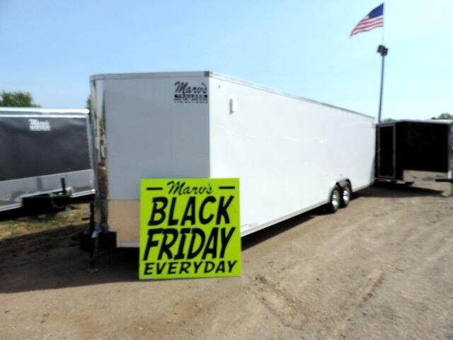 "2019 Pace American Cargo Sport 8.5'X28'+30"" Bull V Enclosed Race Trailer"