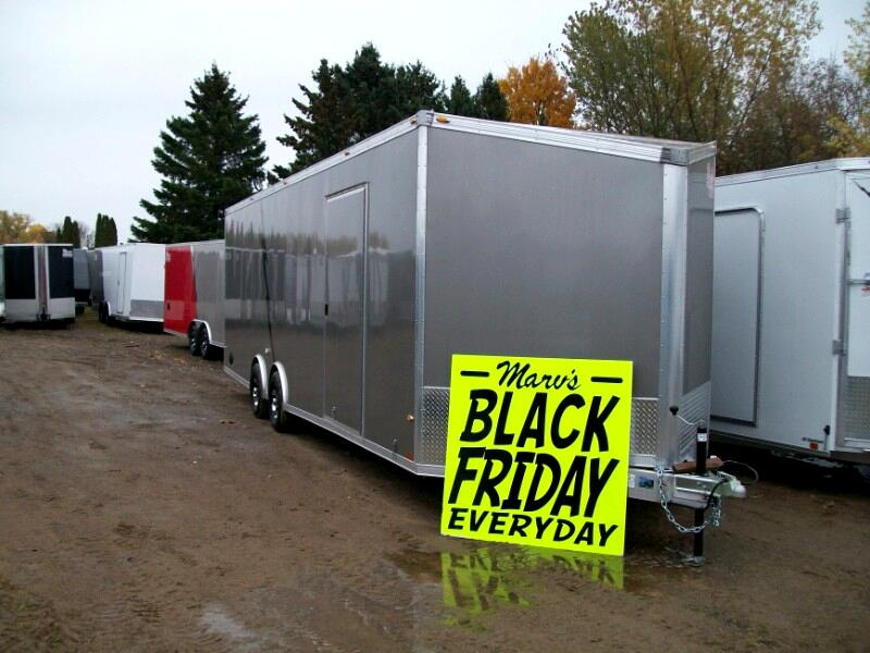 2020 Rance Aluminum Trailers Enclosed Car Hauler 8.5'X28'+4'V Enclosed Aluminum Trailer
