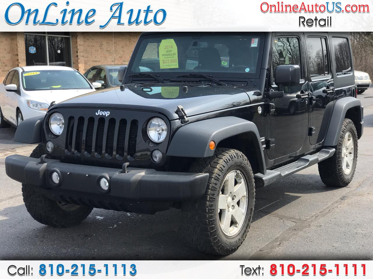 2014 Jeep Wrangler Unlimited SPORT HARD & SOFT TOP AUTO