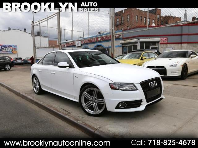 2010 Audi S4 Sedan Quattro White on Red 6 Speed Manual
