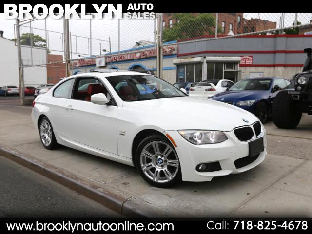2011 BMW 3-Series 335i xDrive Coupe M Sport Package White on Red