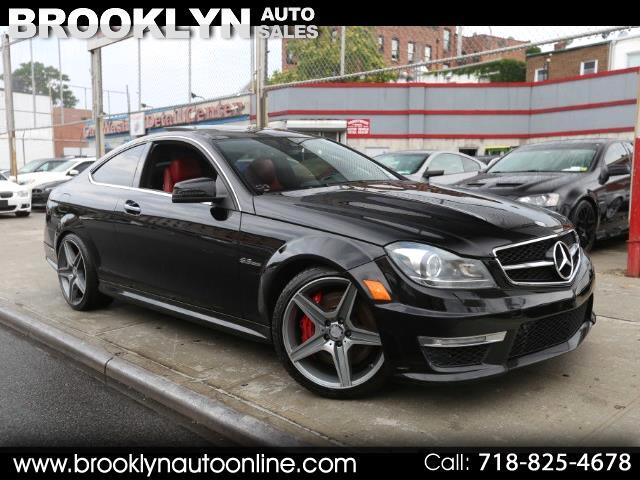 2013 Mercedes-Benz C-Class C63 AMG COUPE P31 PACKAGE BLACK ON RED