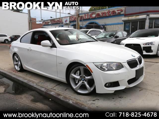 2012 BMW 3-Series 335i Coupe M-Sport Package WHITE ON RED