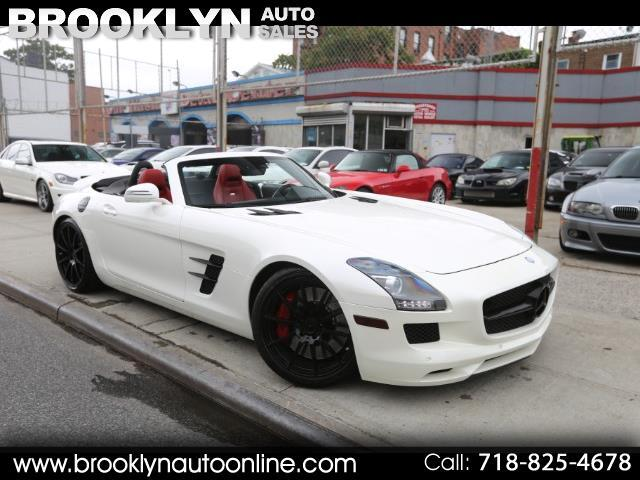 2012 Mercedes-Benz SLS AMG Roadster Designo Mystic White on Red Interior