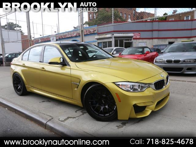 2016 BMW M3 F80 M3 Austin Yellow 6 Speed Manual
