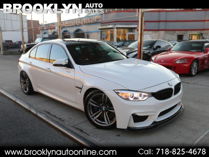 2015 BMW M3 6-Speed Manual White on Red Carbon ROOF