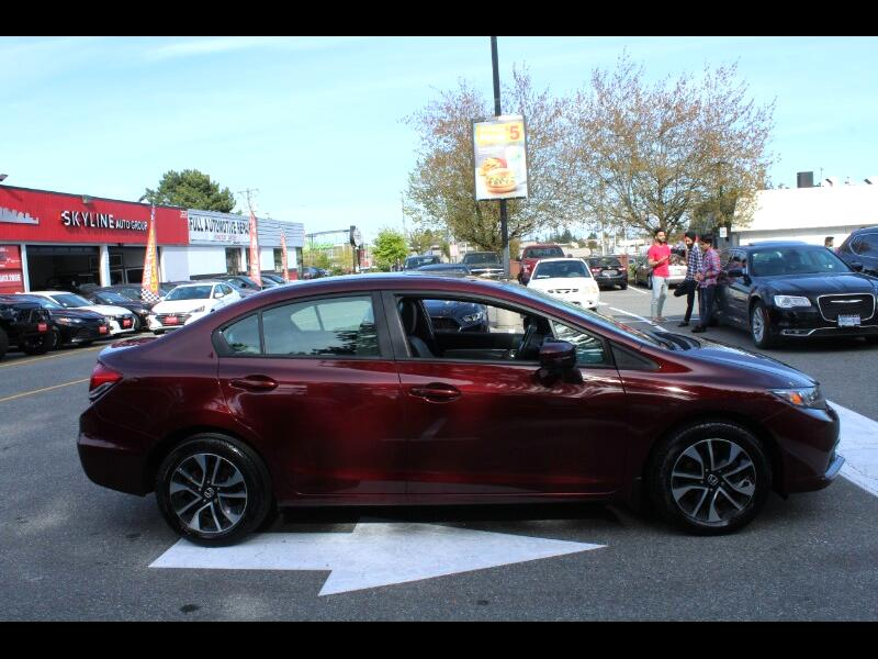 2015 Honda Civic LX Sedan CVT| Back-Up Cam| Sunroof| BC Car| No Acc