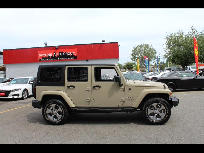 2018 Jeep Wrangler JK Unlimited Sahara 4WD| Leather| BC Vehicle