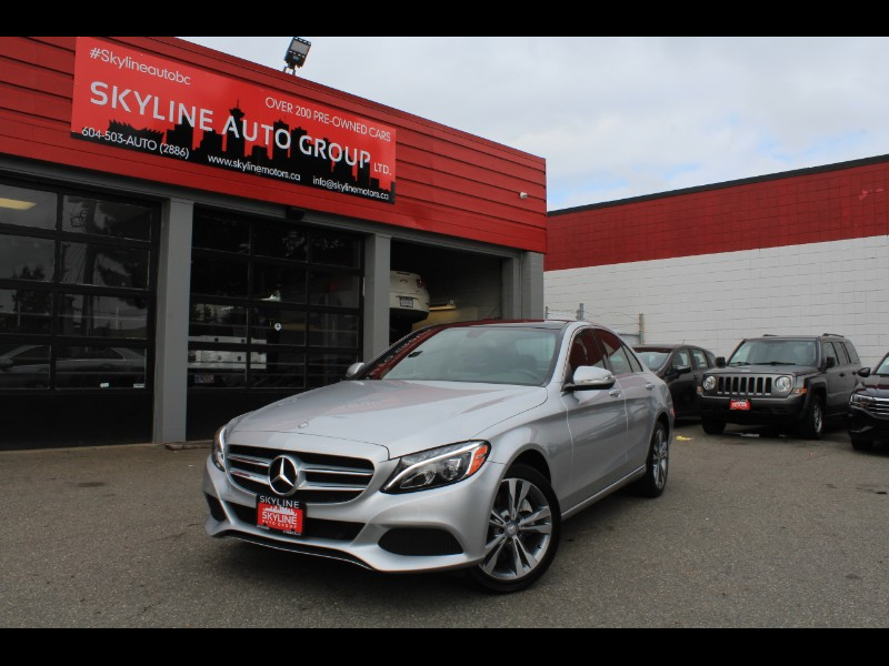 2015 Mercedes-Benz C-Class C300 4MATIC| Pano Roof| Premium Sound| BC Car
