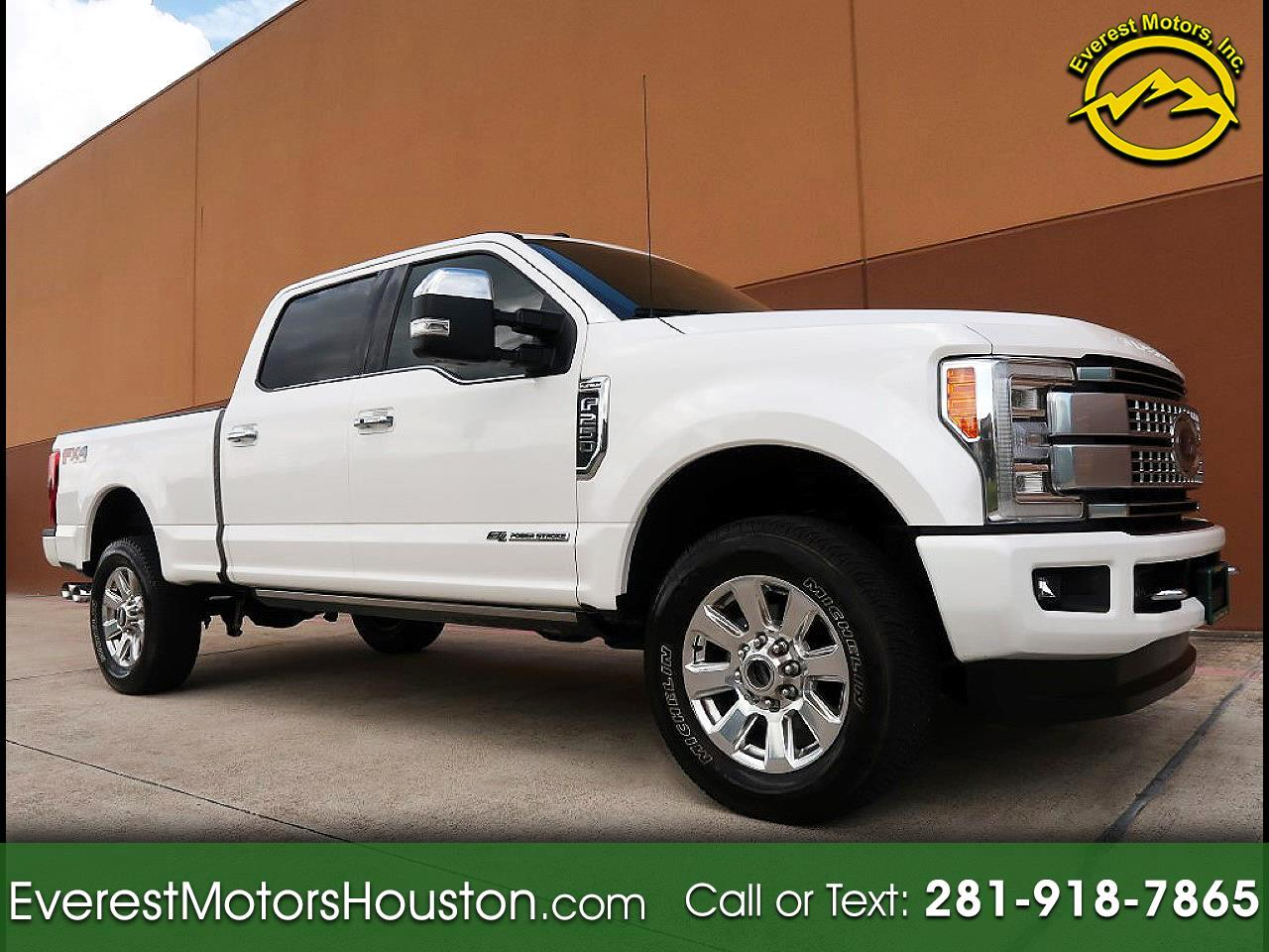 "2017 Ford Super Duty F-250 SRW 4WD Crew Cab 156"" Platinum"