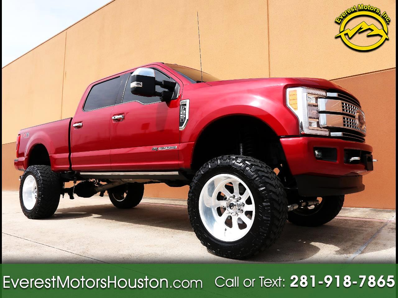 2017 Ford F-250 SD PLATINUM CREW CAB SWB 4WD LOADED LIFTED 1-OWNER