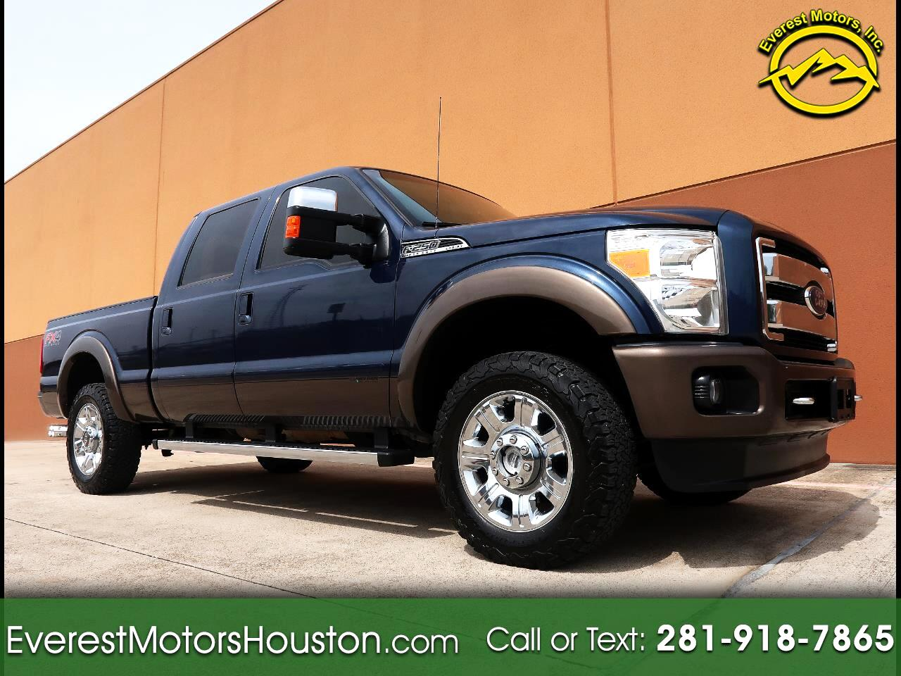 2015 Ford F-250 SD KING RANCH CREW CAB SHORT BED 4WD NAV CAM ROOF