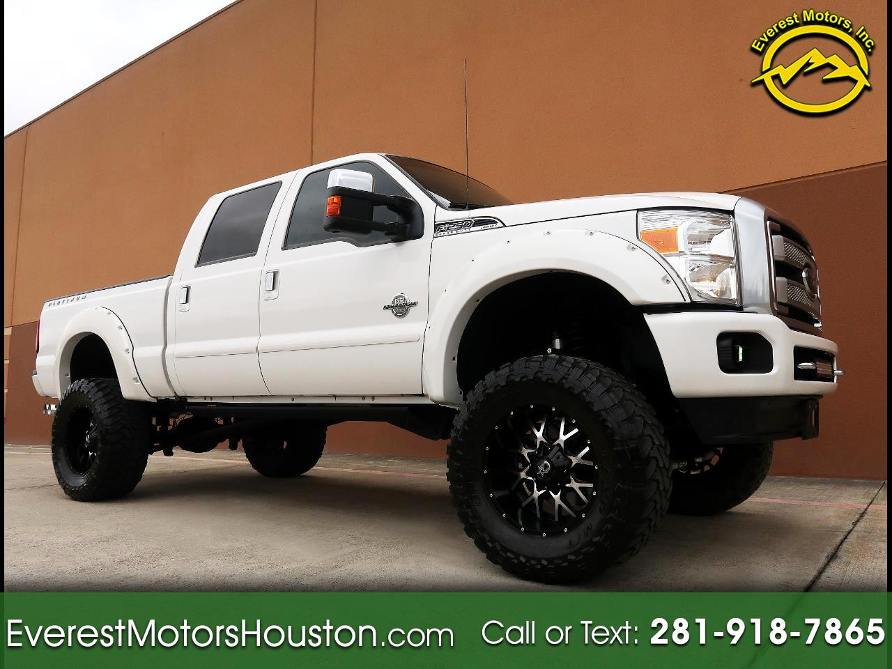 2015 Ford F-250 SD PLATINUM CREW CAB SWB 4WD 1-OWNER CARLI SUSPENSION