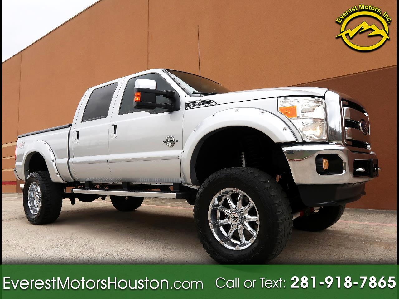 2014 Ford F-250 SD LARIAT CREW CAB SWB 4WD 1-OWNER LIFTED