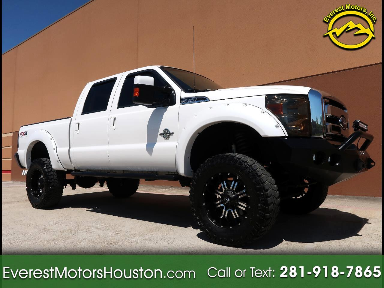 2013 Ford F-250 SD LARIAT CREW CAB SWB 4WD LIFTED NAV CAM ROOF
