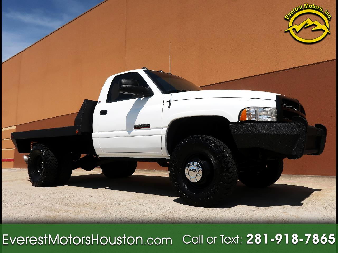 1998 Dodge Ram 3500 SLT LARAMIE CHASSIS AND CAB LONG BED 2WD FLAT BED