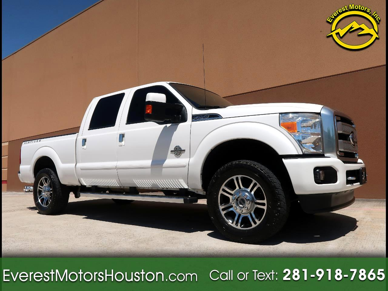 2015 Ford F-250 SD PLATINUM CREW CAB SHORT BED NAV CAM ROOF LOADED
