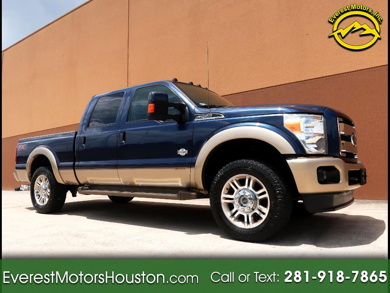 2014 Ford F-250 SD KING RANCH CREW CAB SHORT BED 4WD NAV CAM ROOF