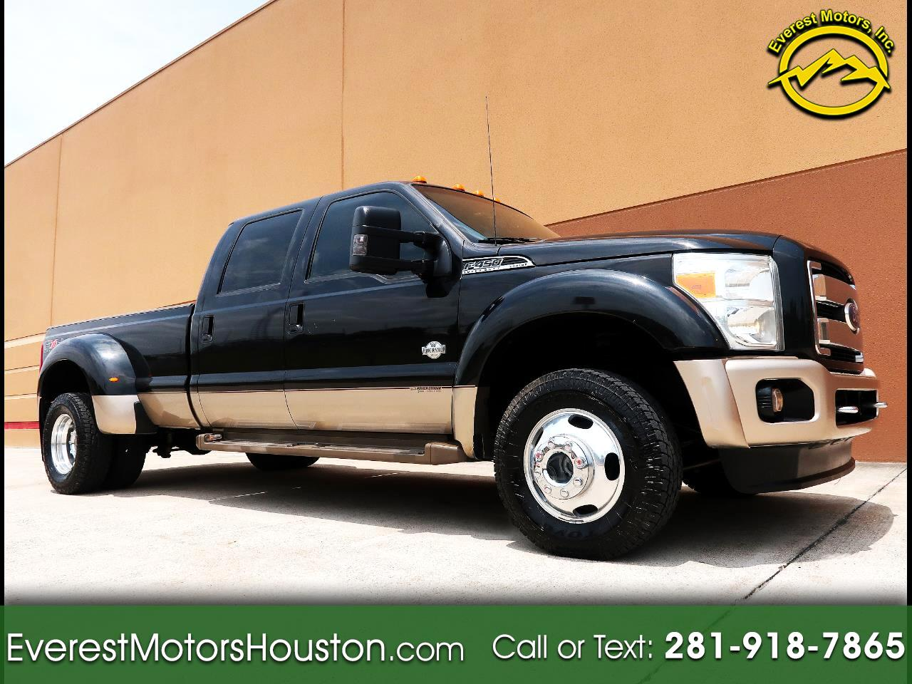 2011 Ford F-450 SD KING RANCH CREW CAB LONG BED 4WD LOADED NAV CAM