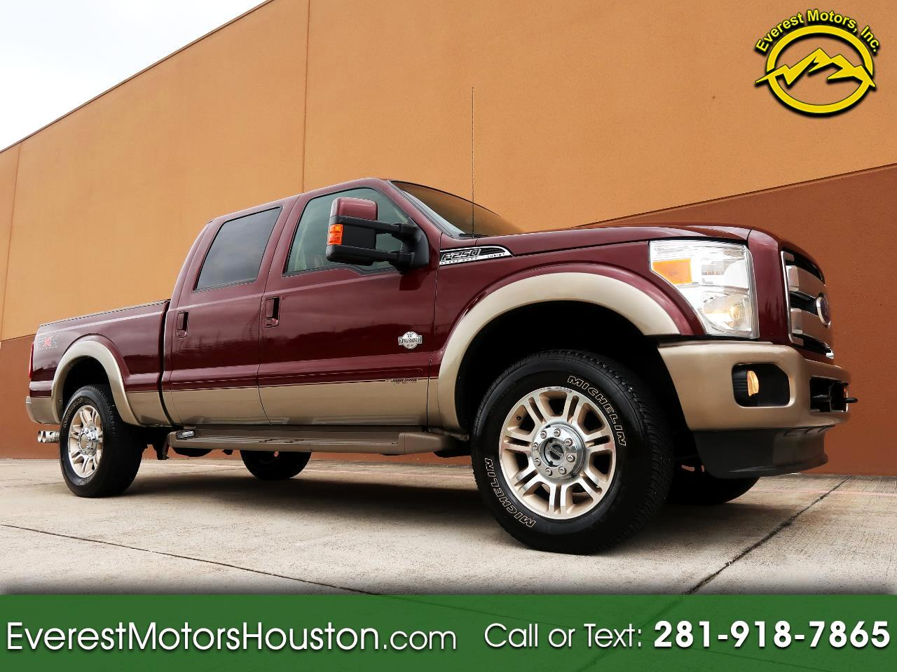 2011 Ford F-250 SD KING RANCH CREW CAB SHORT BED 4WD NAV CAM ROOF