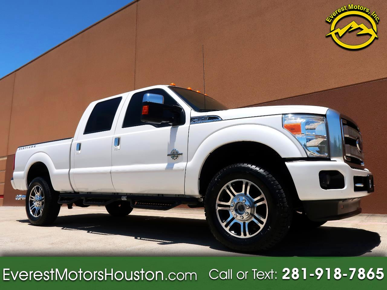 2015 Ford F-350 SD PLATINUM CREW CAB *SHORT BED* 4WD NAV CAM ROOF